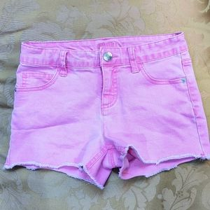 Justice girl's hot pink jean shorts